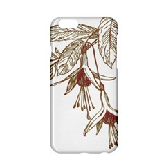 Floral Spray Gold And Red Pretty Apple Iphone 6/6s Hardshell Case