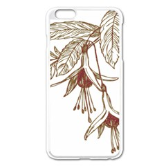 Floral Spray Gold And Red Pretty Apple iPhone 6 Plus/6S Plus Enamel White Case