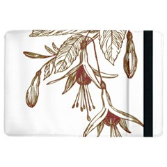 Floral Spray Gold And Red Pretty Ipad Air 2 Flip