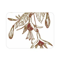 Floral Spray Gold And Red Pretty Double Sided Flano Blanket (mini)
