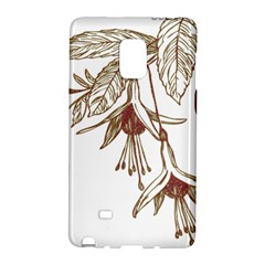 Floral Spray Gold And Red Pretty Galaxy Note Edge