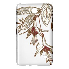 Floral Spray Gold And Red Pretty Samsung Galaxy Tab 4 (8 ) Hardshell Case