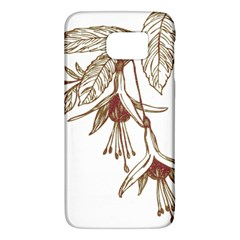 Floral Spray Gold And Red Pretty Galaxy S6