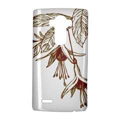 Floral Spray Gold And Red Pretty Lg G4 Hardshell Case