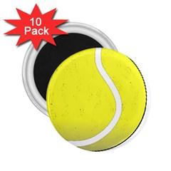 Tennis Ball Ball Sport Fitness 2.25  Magnets (10 pack)
