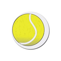 Tennis Ball Ball Sport Fitness Rubber Round Coaster (4 Pack)