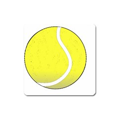 Tennis Ball Ball Sport Fitness Square Magnet