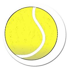 Tennis Ball Ball Sport Fitness Magnet 5  (round)
