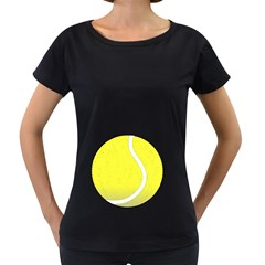 Tennis Ball Ball Sport Fitness Women s Loose Fit T Shirt (black)