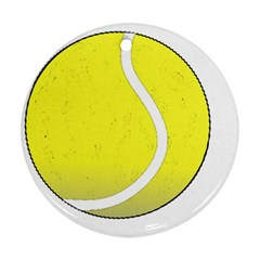 Tennis Ball Ball Sport Fitness Round Ornament (two Sides)