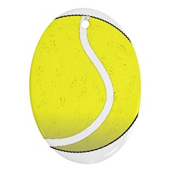 Tennis Ball Ball Sport Fitness Oval Ornament (two Sides)