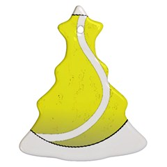 Tennis Ball Ball Sport Fitness Christmas Tree Ornament (two Sides)