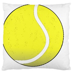 Tennis Ball Ball Sport Fitness Large Cushion Case (two Sides)