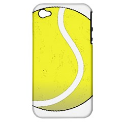 Tennis Ball Ball Sport Fitness Apple Iphone 4/4s Hardshell Case (pc+silicone)