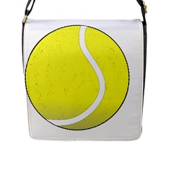 Tennis Ball Ball Sport Fitness Flap Messenger Bag (l)
