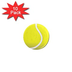 Tennis Ball Ball Sport Fitness 1  Mini Magnet (10 Pack)