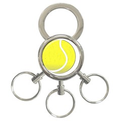 Tennis Ball Ball Sport Fitness 3 Ring Key Chains