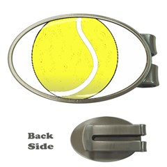 Tennis Ball Ball Sport Fitness Money Clips (Oval)