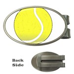 Tennis Ball Ball Sport Fitness Money Clips (Oval)  Front