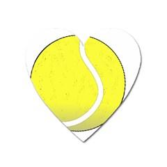Tennis Ball Ball Sport Fitness Heart Magnet