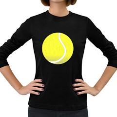 Tennis Ball Ball Sport Fitness Women s Long Sleeve Dark T Shirts
