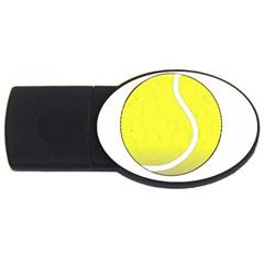 Tennis Ball Ball Sport Fitness Usb Flash Drive Oval (4 Gb)