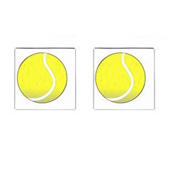 Tennis Ball Ball Sport Fitness Cufflinks (Square)