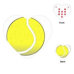 Tennis Ball Ball Sport Fitness Playing Cards (heart)