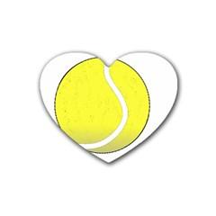 Tennis Ball Ball Sport Fitness Heart Coaster (4 pack)