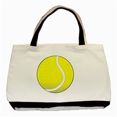 Tennis Ball Ball Sport Fitness Basic Tote Bag (Two Sides)