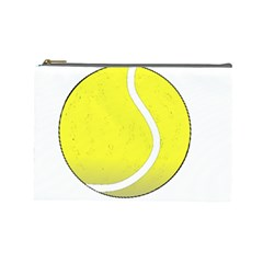 Tennis Ball Ball Sport Fitness Cosmetic Bag (large)