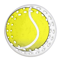 Tennis Ball Ball Sport Fitness Round Filigree Ornament (Two Sides)
