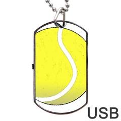 Tennis Ball Ball Sport Fitness Dog Tag Usb Flash (two Sides)