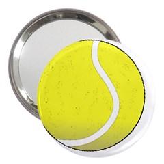 Tennis Ball Ball Sport Fitness 3  Handbag Mirrors