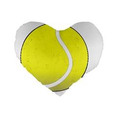 Tennis Ball Ball Sport Fitness Standard 16  Premium Heart Shape Cushions
