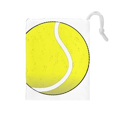Tennis Ball Ball Sport Fitness Drawstring Pouches (large)