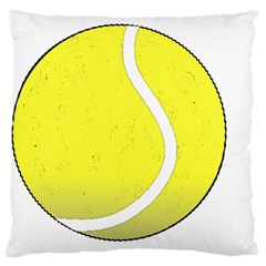 Tennis Ball Ball Sport Fitness Large Flano Cushion Case (Two Sides)