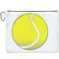 Tennis Ball Ball Sport Fitness Canvas Cosmetic Bag (xxxl)