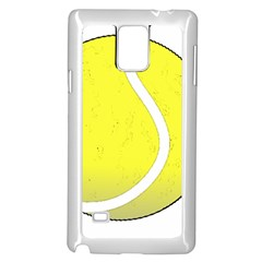 Tennis Ball Ball Sport Fitness Samsung Galaxy Note 4 Case (White)
