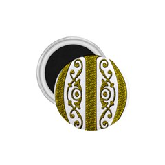 Gold Scroll Design Ornate Ornament 1 75  Magnets