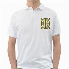 Gold Scroll Design Ornate Ornament Golf Shirts