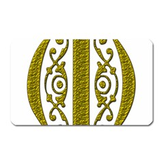 Gold Scroll Design Ornate Ornament Magnet (Rectangular)