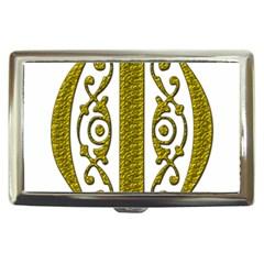 Gold Scroll Design Ornate Ornament Cigarette Money Cases