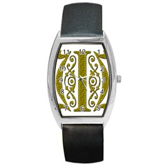 Gold Scroll Design Ornate Ornament Barrel Style Metal Watch