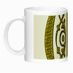 Gold Scroll Design Ornate Ornament Night Luminous Mugs