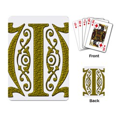 Gold Scroll Design Ornate Ornament Playing Card