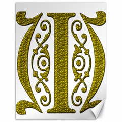 Gold Scroll Design Ornate Ornament Canvas 18  X 24