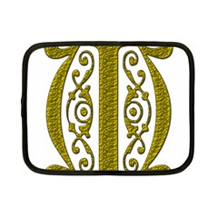 Gold Scroll Design Ornate Ornament Netbook Case (small)