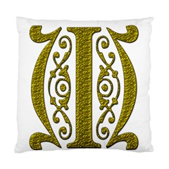 Gold Scroll Design Ornate Ornament Standard Cushion Case (two Sides)