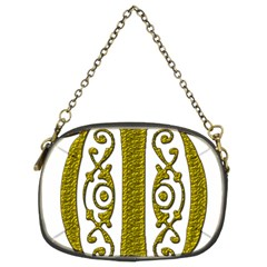 Gold Scroll Design Ornate Ornament Chain Purses (Two Sides)